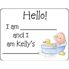 Amazing Baby Shower Name Tags   Personalized!...could Be Cute For A Bridal
