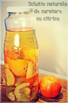 """Atat de simpla, incat va spun din start """"reteta"""": otet & coji de citrice 🙂 Aceasta este varianta usoara a potiunii, varianta rapida si parfumata. Adunati intr-o sticla coji de portocale, clementine, mandarine si lamai Citește mai mult…"""