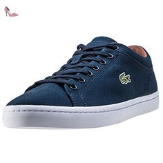 d5e32b69fb4d0a Lacoste Homme Straightset SPM Canvas Trainers