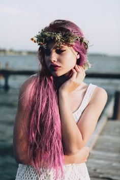 Grunge purple hair//Indie Punk Goddess