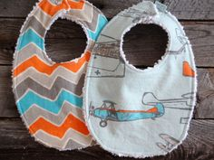 Baby Boy Chenille Bibs by LaLouBoutique