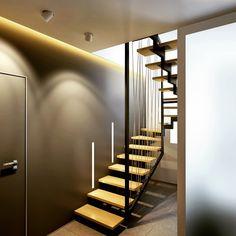 #stair#design#design_interior#лестница#интерьер_квартира Лестница в двухуровневой квартире в Черногории
