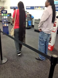 Very long dreads