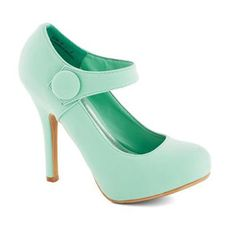 Let your style shine as brightly as your radiant smile by adding these refreshingly mint heels