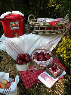 Love the Basket of Mugs, the Baskets of Apples, the Cider Pot, Everything
