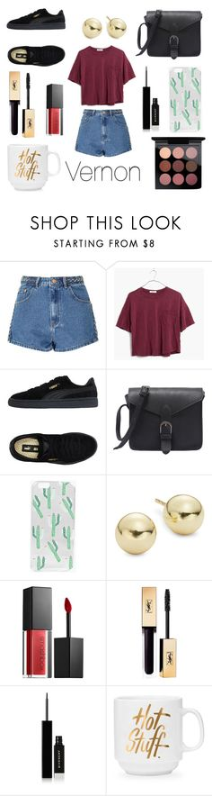 """""""Coffee date with Vernon"""" by kpopisthenewblack ❤ liked on Polyvore featuring Glamorous, Madewell, Puma, Boohoo, Lord & Taylor, Smashbox, Givenchy and MAC Cosmetics"""