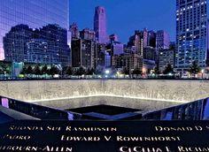 9/11 Memorial 'City Lights at Dusk' (2-18) By LizBallerPhotos