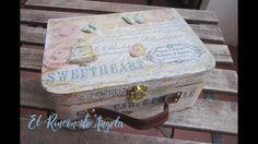 Como decorar una maleta de madera con decoupage - Diy manualidades