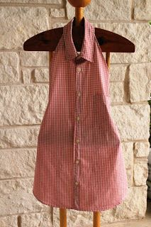 Men's Dress Shirt Apron Full link: http://www.myjunkobsession.com/2012/10/mens-dress-shirt-apron.html?m=1