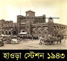 1943 howrah stations Vintage India, West Bengal, Kolkata, Nepal, Alaska, Taj Mahal, Wildlife, British, Street View