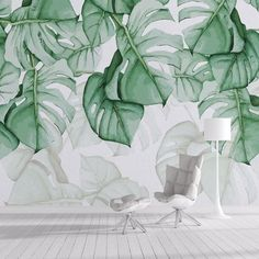Online Shop Custom Photo Wallpaper Modern Tropical Plant Wall Painting Living Room Bedroom Backdrop Wall Decor Mural Wallpaper For Walls 3 D Garden Wallpaper, Green Leaf Wallpaper, Forest Wallpaper, Unique Wallpaper, Leaves Wallpaper, Wall Painting Living Room, 3d Wallpaper Living Room, Home Wallpaper, Nature Wallpaper