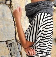 chunky gray scarf