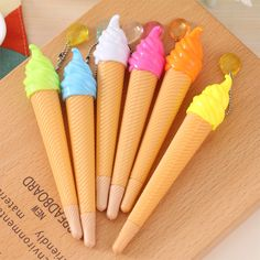 1 Pcs Creative Ice Cream Pen Kawaii Gel Pen Caneta Material Escolar Stationery Office School Supplies Gift Random Color #>=#>=#>=#>=#> Click on the pin to check out discount price, color, size, shipping, etc. Save and like it!