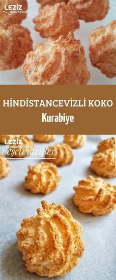 Hindistancevizli Koko Kurabiye - Leziz Yemeklerim - galletas - Las recetas más prácticas y fáciles Delicious Desserts, Dessert Recipes, Yummy Food, Macaron Nutella, Coconut Banana Bread, Banana Pudding Cake, Cakes Plus, Sheet Cake Recipes, Bread Recipes