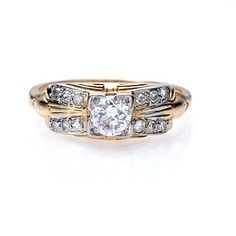 New York, NY Jewelry, engagement rings - Leigh Jay Nacht - Circa 1940s engagement ring - R424-04