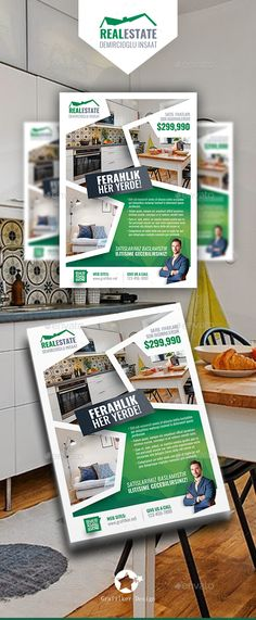 Real Estate Flyer Templates — Photoshop PSD #houses #rental • Download ➝ https://graphicriver.net/item/real-estate-flyer-templates/19164061?ref=pxcr