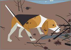 Beagle by Charley Harper -