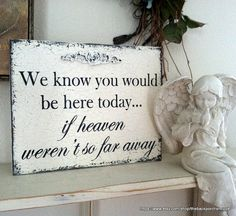 IN MEMORY OF Sign  We know you would be here by thebackporchshoppe, $34.95