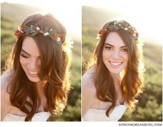 Le Magnifique: a wedding inspiration blog for the stylish bride // www.lemagnifiqueblog.com: San Diego Day-After Session by Sidney Morgan Photography  Love Her makeup and headband