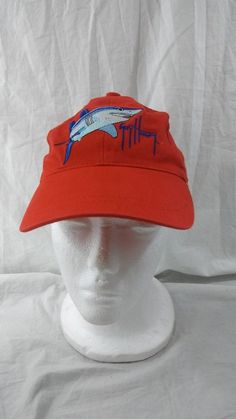 d80d0868b40 Guy Harvey Red Shark One Size Hat Cap Youth Size Boy Girl Embroidered