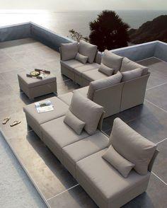 Sofá Sedona, exclusivo de Sindo Outdoor. ventas@sindo.mx.    #sindooutdoor #sindolove #mueblesdeexterior Decor, Outdoor Decor, House Design, Outdoor Sectional Sofa, Sectional Sofa, Luxury, Luxury Design, Outdoor Furniture, Home Decor