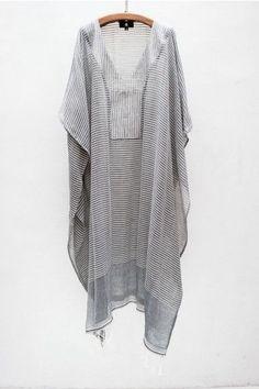 Grey striped caftan