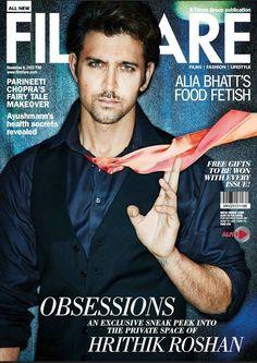[Full Set] Hrithik Roshan's HQ Scans From Filmfare Magazine - November 2013.