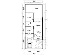 Denah Rumah Minimalis 6×15 1 Lantai