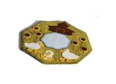 PDF  Duck Pond Penny Rug Pattern  hand by TwistedKnickersInc