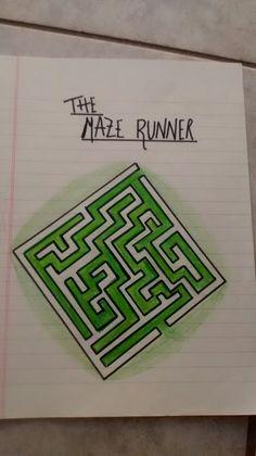 The Maze Runner, el corredor del laberinto dibujo Maze Runner, The Maze Runner, Runners, Labyrinths, Pencil Drawings, Tatuajes