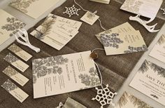 Our Evergreen Stationery Collection - perfect for a winter wedding! {wedding stationery, wedding invitation, winter wedding theme, theme wedding}