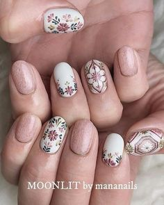 Nails short boho nail art ideas, coffin nail art designs,almond nail art design, acrylic nail art, n Cute Nails, Pretty Nails, My Nails, Neon Nails, Shellac Nails, Almond Nail Art, Fall Nail Art Designs, Unique Nail Designs, Nagel Gel