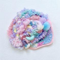 unicorn viscera . . . . . . . . . . . #art #artistsoninstagram #weaving #weave #textileart #textiles #アート #織る #abstractart #abstractexpressionism #yarn #makersgonnamake #craftwithconscience #weaversofinstagram #fiberart #fiber #embroidery #textiles #slowstitching #stitches #needlework#embroideryart #ファイバーアート #織物 #vaporwave #vaporart #vapourwave #fairykei #pastelkei #fiberartist