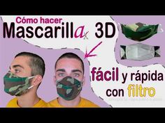 Mascarilla 3D, con filtro. MUY FÁCIL. (con subtítulos). Patrón gratis. - YouTube
