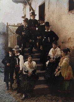 Group Portrait, Spain 1924 some men look like pilgrims great shot!