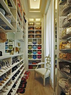 Beautiful luxury walk-in closet ideas for small and big house. Tags: luxury walk in closet, walk in closet ideas, walk in closet for small house, walk in closet for small room Master Closet, Closet Bedroom, Closet Space, Shoe Closet, Master Bedroom, Tiny Closet, Bedroom Chair, Bed Room, Shoe Room