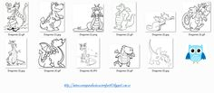 Recursos didácticos para la etapa de Educación Infantil: Dragones para colorear