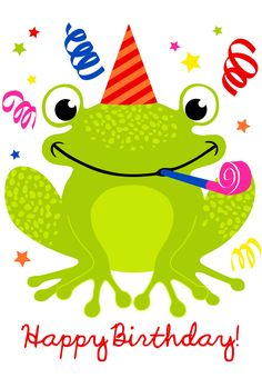 Free Printable A Happy Hopping Birthday Greeting Card