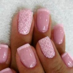 Do you want some elegant and classy looking nails? We've got a large selection of classy nail designs and nail art ideas to inspire your nails Bridal Nails Designs, Nail Art Designs, Nail Design, Design Art, Floral Design, French Manicure With Design, French Manicure With Glitter, Pink Design, How To Do Nails