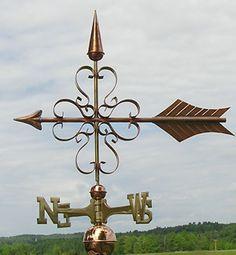 Copper Arrow Weathervane 123 | Weathervane Factory