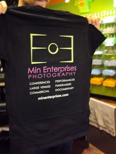 Independent photography business t-shirts