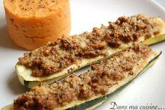 Courgette farcie bœuf parmesan