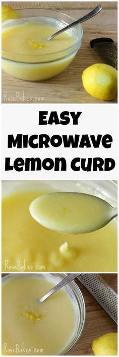 Easy Microwave Lemon Curd Recipe by Rose Bakes