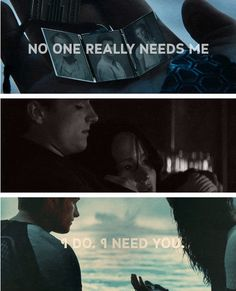 I realize that there is only one person who will be damaged beyond repair if Peeta dies. Me.