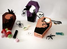 Diy Halloween, Art And Craft, Halloween Scrapbook, Scrapbooking, Crochet, Oui, Html, Diy Tutorial, Funeral Caskets