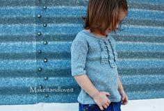 Repurposing – Girl's Ruffle Front Shirt   Make It and Love It