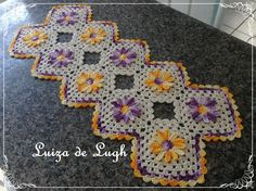 Trilho de mesa Margarida do Campo # Luiza de Lugh