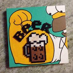 Duff beer - The Simpsons perler beads by Hyeme Lee