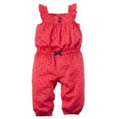 Baby Girl Carter's Heart Jumpsuit