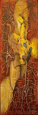 Matières et couleurs III, Techniques mixtes sur toile, 20 x 60 cm, vendu